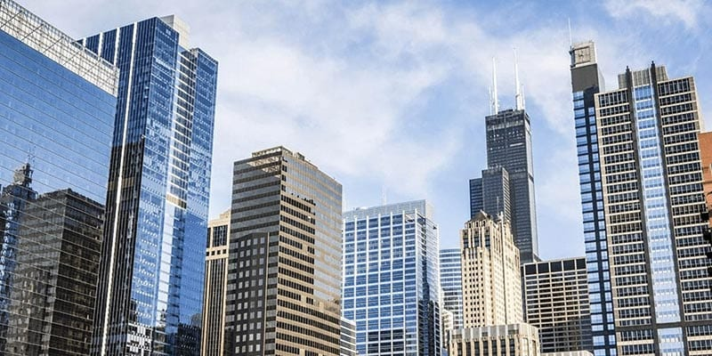 lease administration company: skyscrapers in the city